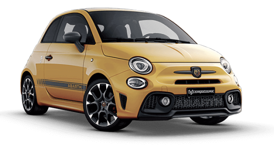 Abarth 595 Competizione – in bright yellow