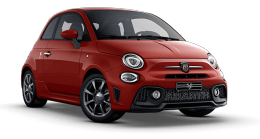 Abarth 595 Hot Hatch in red