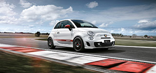 Abarth 595 YFR on the Racing Track